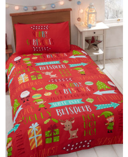 Christmas Fun 4 in 1 Junior Bedding Bundle (Duvet, Pillow and Covers)