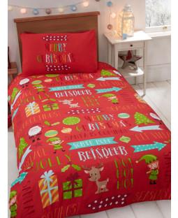 Christmas Fun 4 en 1 Junior Bedding Bundle (edredón, almohada y fundas)