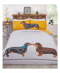Hello Sausage Double Duvet Cover and Pillowcase Set
