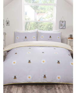 Bee Kind King Size Duvet Cover and Pillowcase Set