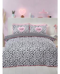 Dalmatian Black and White Double Duvet Cover Set