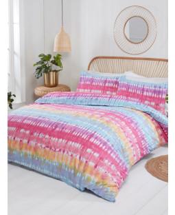Tie Dye Double Duvet Cover and Pillowcase Set