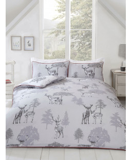 Sherwood Stag Double Duvet Cover and Pillowcase Set