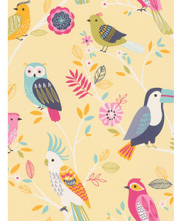 Rasch Birds Wallpaper - Yellow 293029