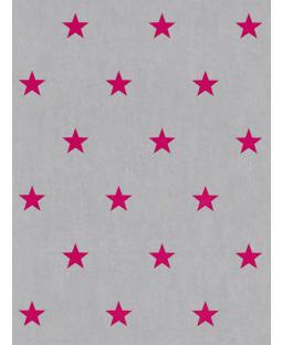 Rasch Star Wallpaper - Pink and Grey 247619