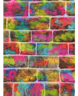 Rasch Brick Graffiti Wallpaper - 291407