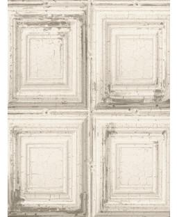 Rasch Distressed Wood Panels Wallpaper - White 932614