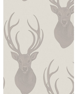 Rasch Stags Wallpaper - Taupe 273700