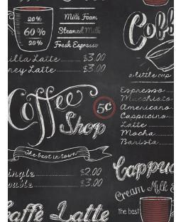 Coffee Shop Blackboard Wallpaper Rasch 234602