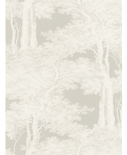 Trees Wallpaper Grey and White Rasch Passepartout  605433