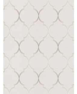 Fretwork Geometric Wallpaper Grey Rasch 701609
