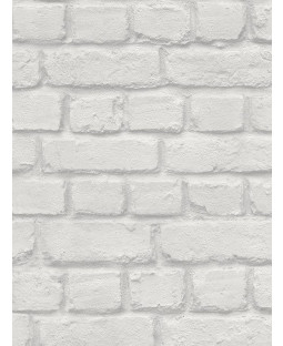 Rasch Light Grey Brick Effect Wallpaper (226713)
