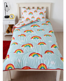 Rainbow Coverless Single 4.5 Tog Quilt and Pillowcase Set