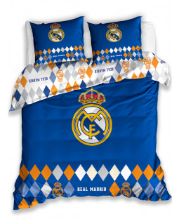 Real Madrid CF Diamond Double Cotton Duvet Cover Set