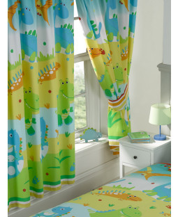 Roar Like a Dinosaur Lined Curtains