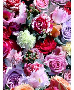 Carta da parati floreale rosa - rosso e rosa - Muriva J97010