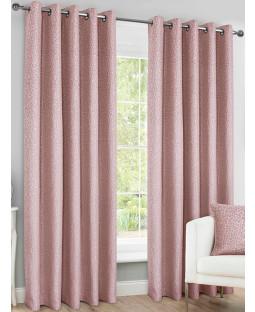 Belle Maison Lined Eyelet Curtains - Sahara Range, Blush