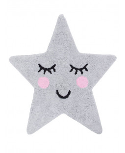 Grey Star Shaped Floor Rug Sweet Dreams