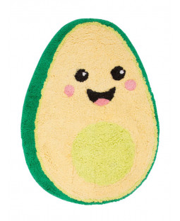 Happy Avocado Shaped Floor Rug
