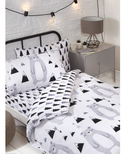 Scandi Bear 4 in 1 Junior Bedding Bundle Set (Duvet, Pillow and Covers)