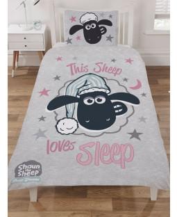 Shaun The Sheep Love Sleep Single Duvet Cover Set