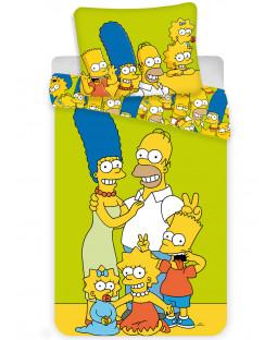 Simpsons Green Single Cotton Duvet Cover Set - European Size