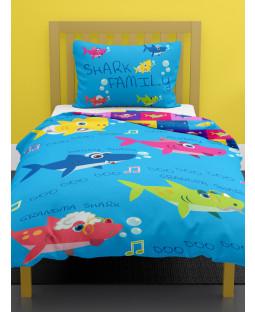 Shark Family Junior Duvet Cover and Pillowcase Set