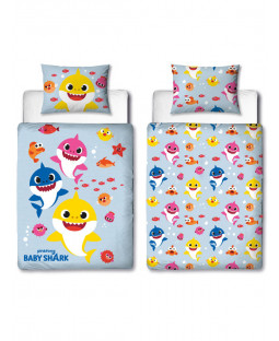 Baby Shark Fishes 4 in 1 Junior Bedding Bundle Set (Duvet, Pillow and Covers)