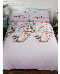 Sloth Single Duvet Cover and Pillowcase Set