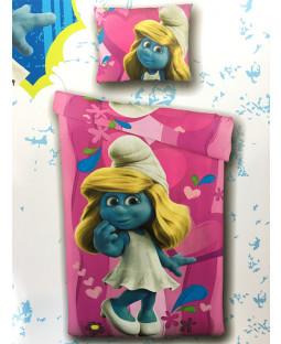 Smurfs Smurfette Single Duvet Cover and Pillowcase Set