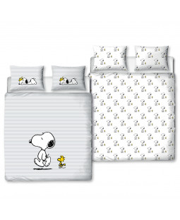Peanuts Snoopy Besties Double Duvet Cover and Pillowcase Set