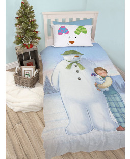 The Snowman and the Snowdog Single Bedding Set