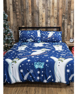 The Snowman and the Snowdog Starry Double Duvet Cover Set