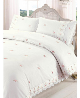 Sophie Floral Cream King Size Duvet Cover and Pillowcase Set