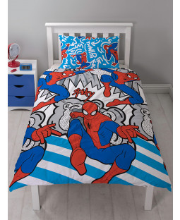 Marvel Spiderman Popart Single Duvet Cover and Pillowcase Set