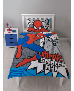 Spiderman Hang Single Duvet Cover Bedding Set
