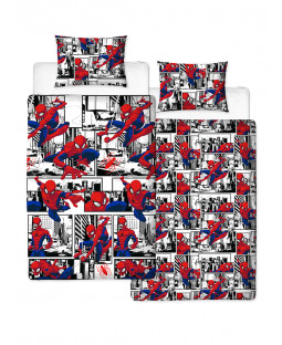 Spiderman Metropolis Single Duvet Cover Bedding Set