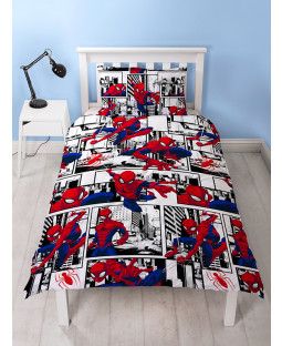 Spiderman £50 Ultimate Bedroom Makeover Kit Duvet Cover