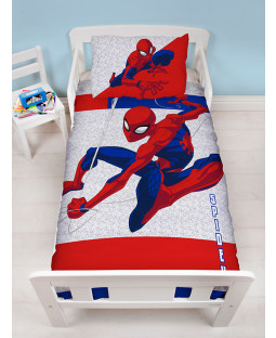 Spiderman Metropolis 4 in 1 Junior Bedding Bundle (Duvet, Pillow and Covers)