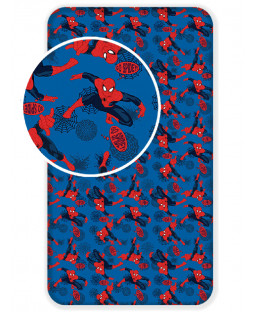 Spiderman Single Fitted Cotton Bed Sheet