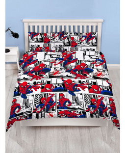 Spiderman Metropolis Double Duvet Cover and Pillowcase Set