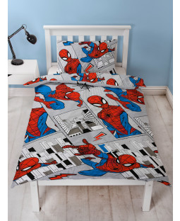 Spiderman Flight Single Duvet Cover and Pillowcase Set