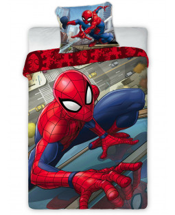 Spiderman Single Cotton Duvet Cover Set - European Size