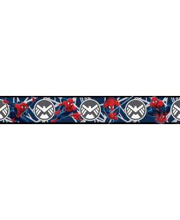 Spiderman Blue Self Adhesive Wallpaper Border 5m