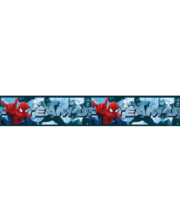 Spiderman Team Up Self Adhesive Wallpaper Border 5m