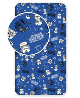 Star Wars Galaxy Single Fitted Sheet - Blue