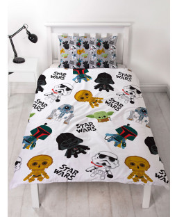 Star Wars Minis Single Duvet Cover and Pillowcase Set