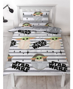 Star Wars Baby Yoda Mandalorian Single Duvet Cover Set