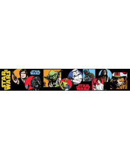 Star Wars Cartoon Self Adhesive Wallpaper Border 5m