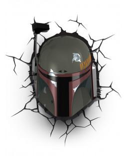 Star Wars Boba Fett 3D LED Wall Light